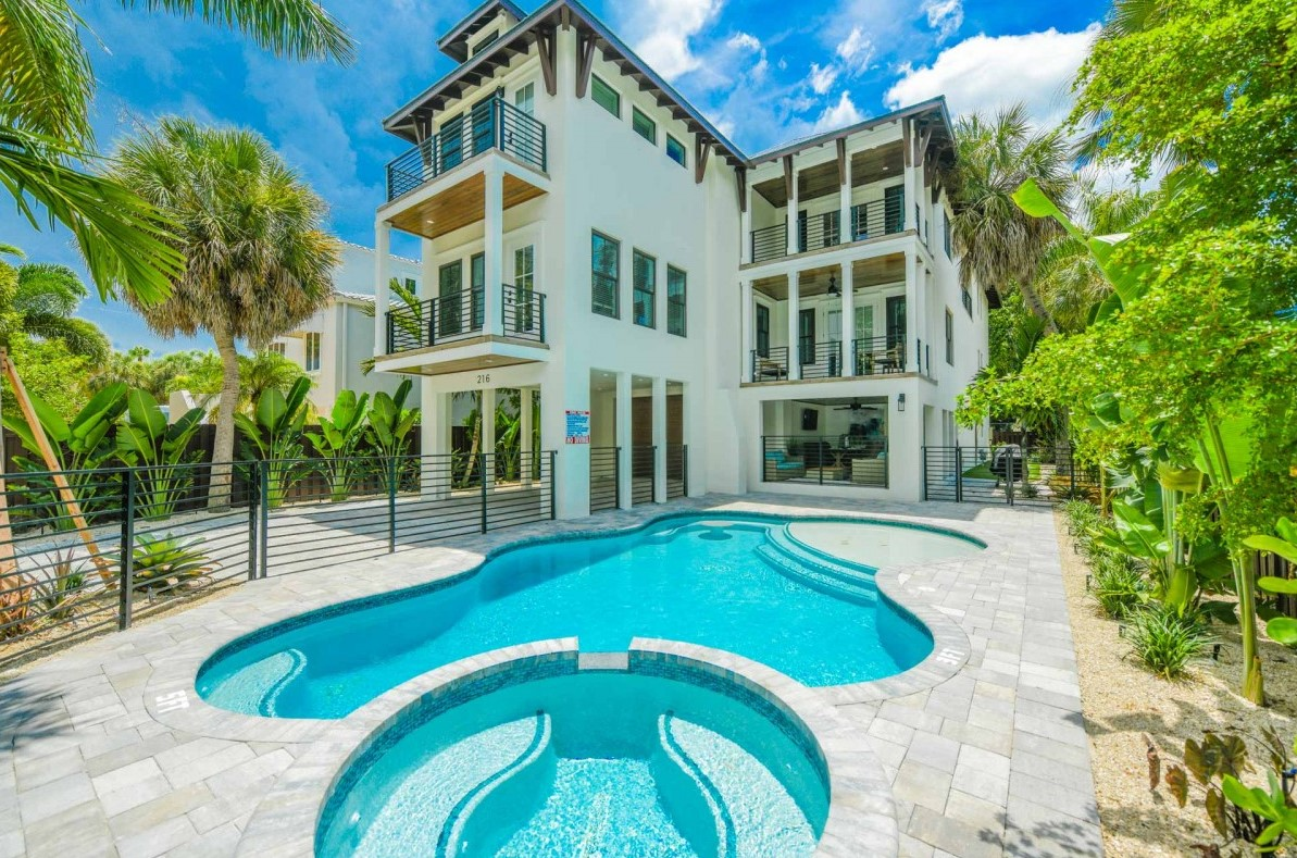 Pool view of The Shore House