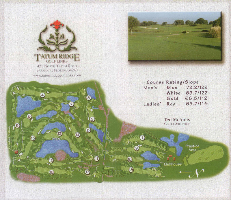 Tatum Ridge Golf Links course map