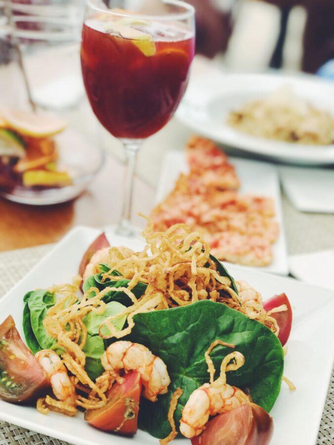 seafood dinner on Longboat Key