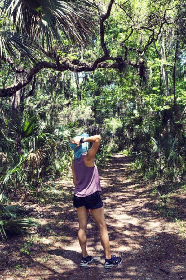 woman walking in Florida park